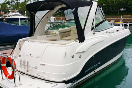 NOW 89k! Chaparral 280! TWIN DIESEL!